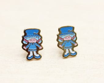 Strawberry Shortcake Studs - Blue
