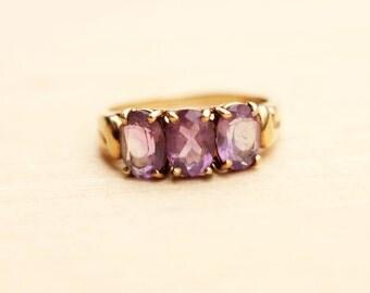 10K Victorian Amethyst Ring - Size 6.75