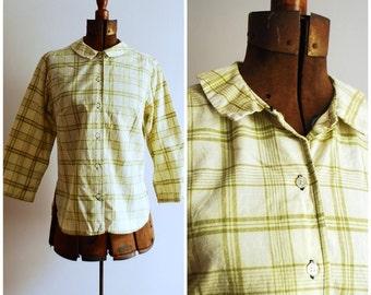 Perfect Plaid Vintage Madras Cotton Blouse