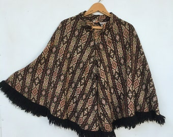 SALE Vintage 60s / 70s Tapestry Poncho Cape