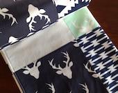 Baby Blanket Boy-Woodland Baby Quilt-Minky Baby Blanket-Deer Baby Blanket-Handmade Baby Quilt-Tribal Baby Quilt-Baby Quilt Etsy-Baby Gift