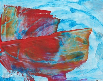Abstract Painting #1 - Acrylic ACEO ATC - Giclee Print