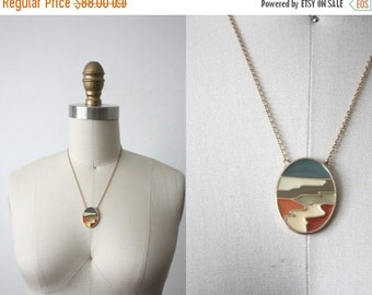 VACATION SALE. painted desert necklace / vintage sarah coventry necklace