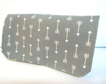 Coupon Organizer /Budget Organizer Holder /Attaches To You Shopping Cart Gray with White Arrows