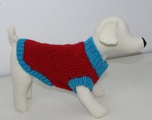 HALF PRICE SALE madmonkeyknits - Simple Chunky Dog Coat knitting pattern pdf download - Instant Digital File pdf knitting pattern