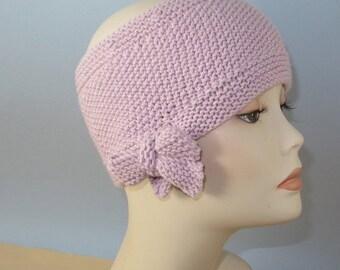 SALE Instant digital pdf File Download Knitting Pattern - Tie up Bow Moss (seed) Stitch Headband Circular Knitting Pattern