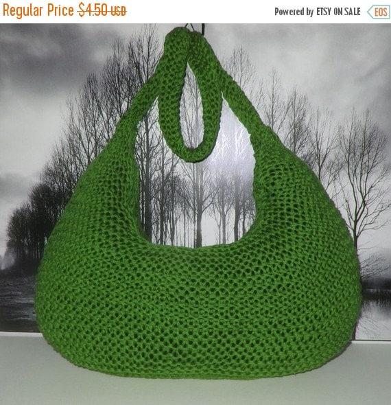 HALF PRICE SALE Instant Digital File Pdf Download knitting pattern - Superfast Garter Stitch Super Slouch Bag pdf knitting pattern