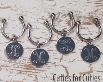 Bridesmaid Keychain Monogram Set of 4