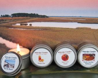 SOUTH CAROLINA SAMPLER (four 2-oz soy candles)