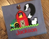 Farm yard Themed birthday tee on Grey