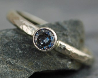 Montana Sapphire in Recycled 18k White, Rose, or Yellow Gold Ring
