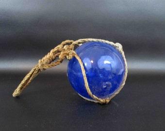 Vintage Glass Fishing Net Float. Hand Blown Glass Net Float. Circa 1920's - 1930's.