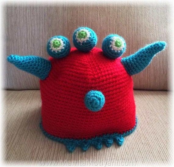 Crochet Monster Ogre Hat Pattern, Alien Shrek Hat Pattern ...