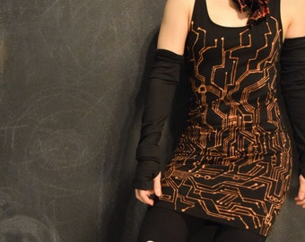 DISCONTINUED Size Small Motherboard bleach design tank dress