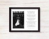 Elegant Black and White Custom Wedding Photo and Wedding Song Print