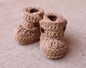ON SALE Baby Booties, Baby Boots, Baby Ugg Boots, Crochet Baby Booties