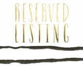 Reserved Listing for Las S