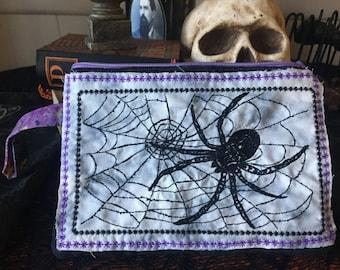 Spiderweb Zipper Bag
