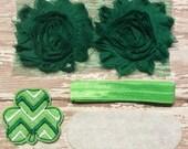 DIY Headband Kit- St Patrick's Day Headband Kit- Makes 1 headband, Do it Yourself- Feltie Headband- Baby Headband Kit- DIY Supplies