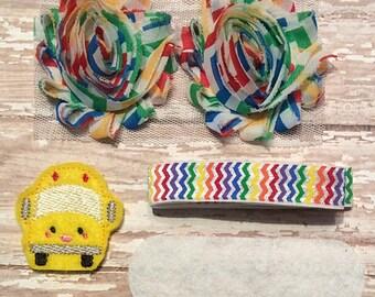 DIY Headband Kit- Back 2 School Headband Kit- Makes 1 headband, Do it Yourself- Feltie Headband- Baby Headband Kit- DIY Supplies