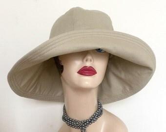 Wide Brim Hat - Floppy Brim Hat - 1920's Hat - Summer Hat - Cloche Hat - Derby Hat - Beach Hat - Large Brim Sun Hat - Chemo Hat - Cotton Hat