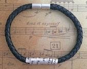 Personalised Leather Storyteller Secret Bracelet