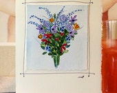 "Flowers For Mom Watercolor Original ""Big Card"" 5x7 With Matching Envelope  betrueoriginals"