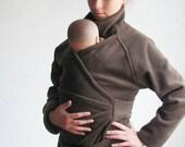 Maternity. Baby Wearing. Babywearing Coat. Baby Clothes.  Baby Wearing Jacket. BLACK. Ergo, Sling, Wrap. Poncho.