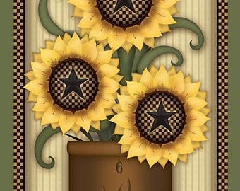 Fall Wall Decor,Fall Welcome Wood Sign,Sunflowers,Welcome Wall Decor, 12x18,Carrie Knoff