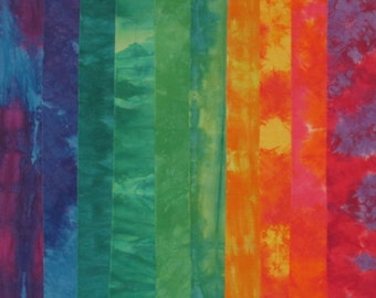 Hand Dyed Fabric - COLOR PARTY Stash Pack - 10 Fat Eights