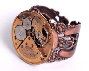 Petit Lauren - Steampunk Croton Watch Movement Ring