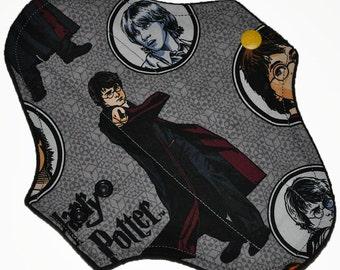 Light Hemp Core- Harry Potter Reusable Cloth Pantyliner Pad- WindPro Fleece- 8.5 Inches