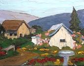 Country Farm Garden Painting Impressionist California Plein Air Landscape Art Lynne French 11x14