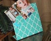 Secret Sister Gift Idea, Magnetic Board,  Cheer Sister Gift, Quatrefoil Magnet Board, Desk Accessories, Desk Organizer, Perfect photo frame