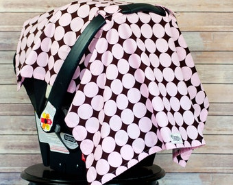 Car Seat Sun Shade in Claire - Shield your baby from the sun, germs and the elements with a darling car seat canopy