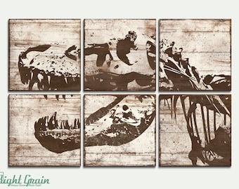 Large TRex Dinosaur Print - Large Modern Art for Kids Room - Custom Made Gift Idea 24x36
