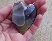 "Mookaite Jasper heart - unique handmade gem stone heart from Australia - ooak heart rock - ""cuddle heart"""