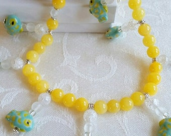 A Fish Out of Water                Fish Necklace with Matching Earrings