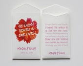 Custom White Lottery Ticket Wedding Favor Packet Envelopes - Many Colors Available