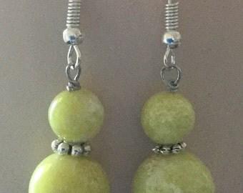 Lemon Jade Hypoallergenic Dangle Earrings
