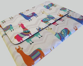 MacBook Air Sleeve, MacBook Air Case, MacBook Air 11 Inch Sleeve, MacBook Air 11 Case, MacBook Air Cover Llamas