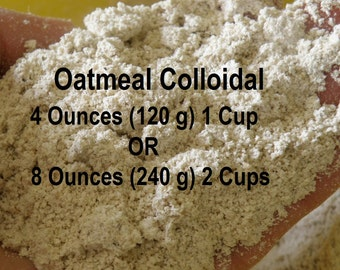 Oatmeal Powder - Bath Soak - Colloidal Oatmeal Powder - 4 or 8 Ounce - Bath and Beauty Supplies