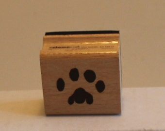 Animal Paw Print Rubber Stamp