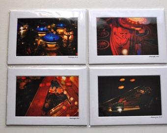 Matted Print 4x6 5x7 Pinball Photography Art Kitsch Retro Vintage Gaming Indie Art Modern Minimal