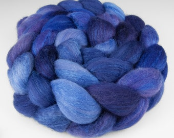 Polwarth Silk Top,Handpainted, 4 oz., Lupine