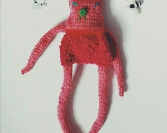 cozy critter (handknit plushie)