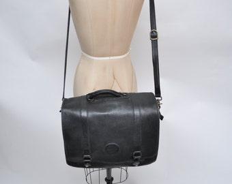 vintage leather attache vintage leather portfolio vintage leather bag messenger bag eddie bauer