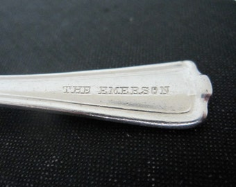Antique Demitasse Spoon, The Emerson Hotel Silver Spoon, Silverplate