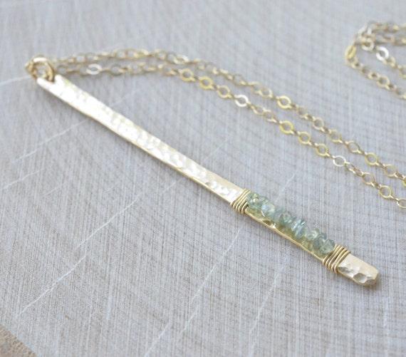 Natural Alexandrite Necklace: Alexandrite Necklace Gold Filled June Birthstone GENUINE