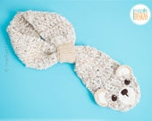 SALE - Handmade Bear Scarf - READY to SHIP for Child Size